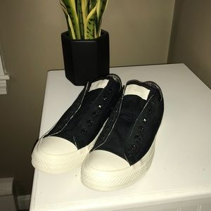 Women's Converse custom slip-on lowtops